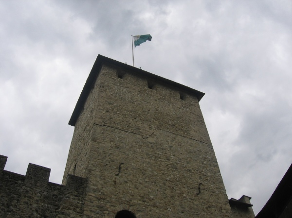The tallest structure in the castle